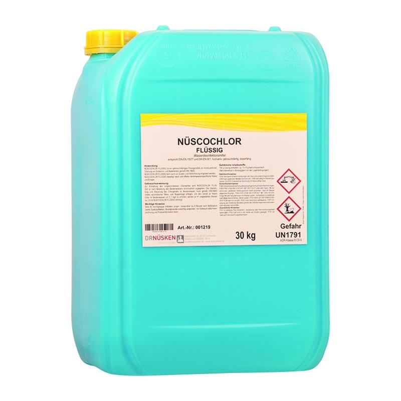 Nüscochlor flüssig  Wasserdesinfektionsmittel für Schwimm- und Badebeckenwasser und Trinkwasser