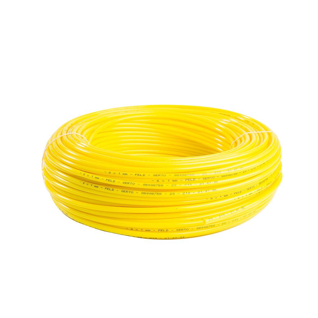100 Meter Dosierschlauch gelb 6/4×1 mm