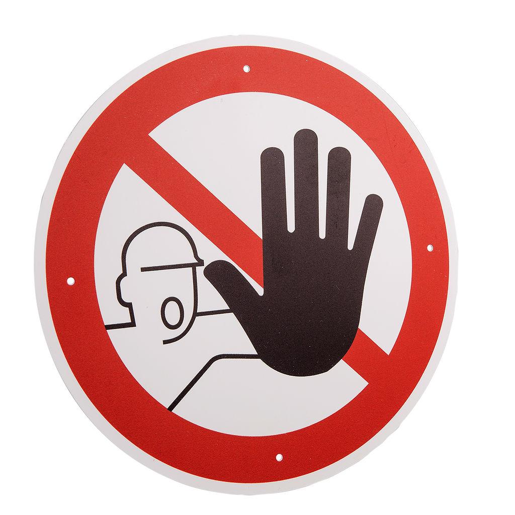 """Verbotsschild """"Zutritt für Unbefugte verboten"""""""
