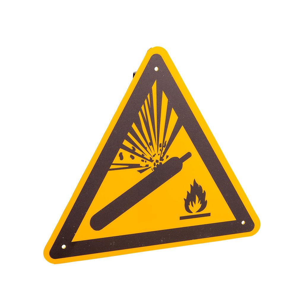 """Warnschild """"Warnung vor Gasflaschen"""""""