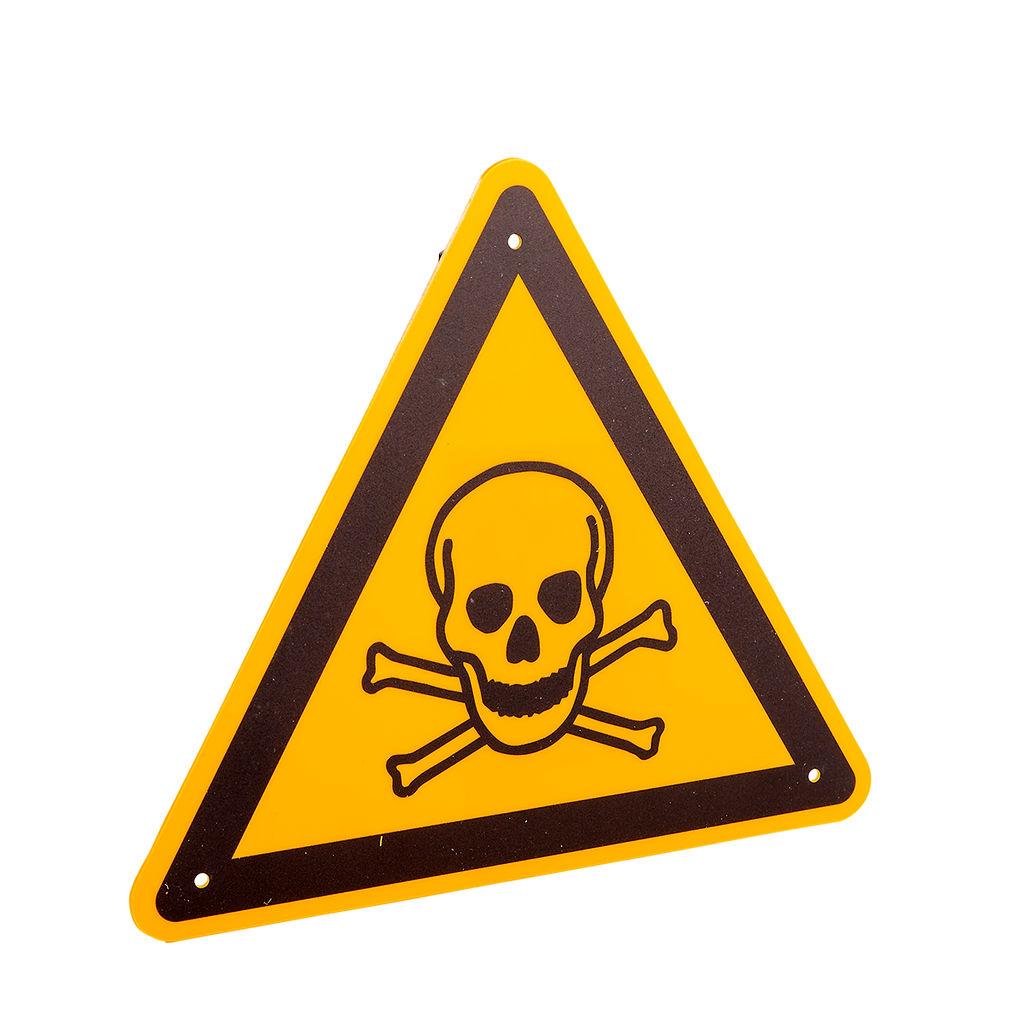 """Warnschild """"Warnung vor giftigen Stoffen"""""""